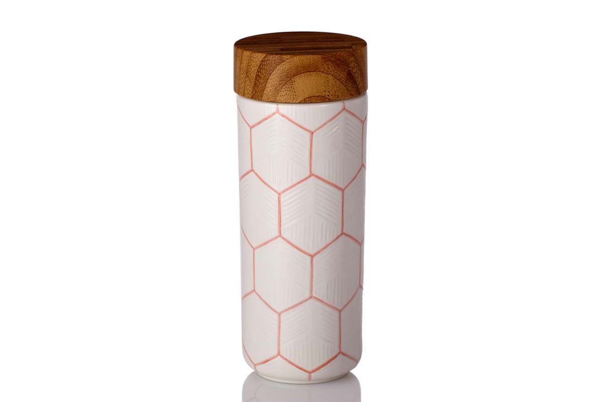 The-Geometric-Tumbler-Hand-Painted-Orange-Line-with-White-Glaze
